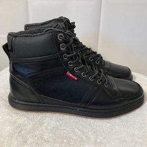 NEW Levi's Size 8.5 Mens Black Fletcher II Hi-Tops